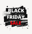 grunge paint black friday sale vector image