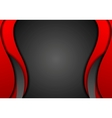 Abstract contrast red black wavy corporate vector image vector image