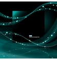 Abstract glowing waves background vector image vector image
