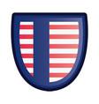 american flag banner patriotic symbol vector image vector image