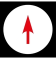 Arrow Axis Y flat red and white colors round vector image vector image