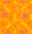 autumn stuff pattern vector image vector image