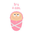 baby shower card its a girl cute cartoon vector image
