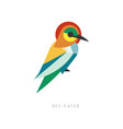 beautiful silhouette of bee-eater composed from vector image vector image