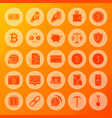 bitcoin solid circle icons vector image vector image