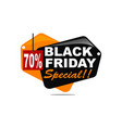 black friday special discount 70 percent vector image vector image