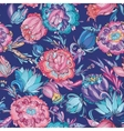 Blue Detailed Floral Pattern vector image vector image