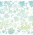 blue green nautical seaweed pattern vector image vector image