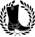boot with spurs stencil vector image vector image
