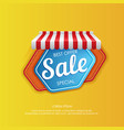 bright sticker design for sale promotion vector image