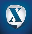 Bubble speech letter X vector image