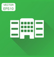 building icon business concept building pictogram vector image