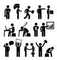 business finance office workplace man working a vector image vector image
