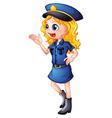 Cartoon policewoman vector image