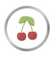 Cherry icon cartoon Singe fruit icon vector image vector image
