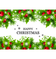 Christmas background with fir and holly vector image vector image