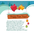 Christmas card with a gift box vector image vector image