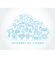 Cloud IOT Internet of Things Smart Home Quality vector image vector image