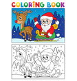 coloring book santa claus topic 7 vector image