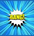 comic bang wording background vector image vector image