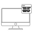 computer and web design vector image