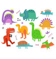 dinosaurs background vector image vector image