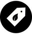 eco label icon vector image vector image