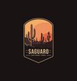 emblem patch logo saguaro national park vector image
