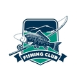 Fishing club emblem for fisherman sport vector image vector image