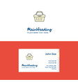 flat basket logo and visiting card template vector image vector image