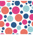 geometric abstract dots in pink and blue vector image