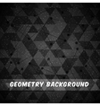 Geometry black background design vector image vector image