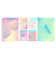 gradient holographic set vector image