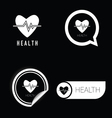 health icon in black and white vector image vector image