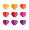 heart label sticker set vector image