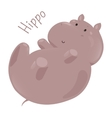 Hippo isolated Child fun pattern icon vector image vector image