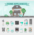 home appliances flat concept vector image vector image