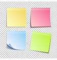 isolated colorfull sticky notes vector image vector image