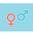 isolated gender pink women and blue man symbols vector image