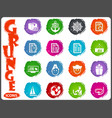 job icons set in grunge style vector image vector image
