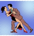 Man and woman dancing a waltz or tango vector image vector image