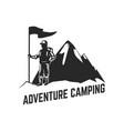 mountain camp emblem template design element vector image vector image