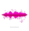 Musical sound wave equalizer stylish concept vector image vector image