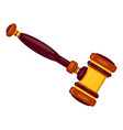 new judge gavel icon cartoon style vector image
