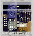 night city business center la vector image vector image