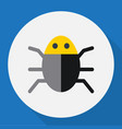 of safety symbol on bug flat vector image