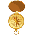 Old Look Compass With Windrose vector image vector image