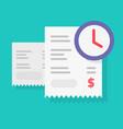 payment schedule time notification reminder vector image vector image