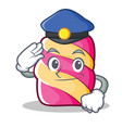 police marshmallow character cartoon style vector image vector image