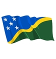 political waving flag of solomon islands vector image vector image